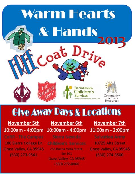 Coat Drive Flyer Final Blast Community Recovery Resources Drive Flyer Template Free