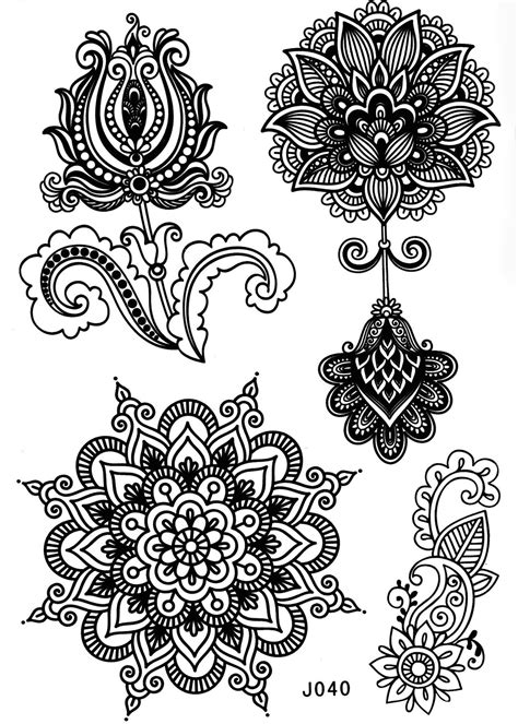 henna tattoo colours aponi black henna mandala temporary patterned