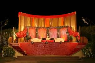 outdoor indian wedding stage decorations wedding stage