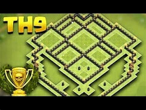 coc nazi layout coc rathaus 9 rh9 trophy base chion league 2017
