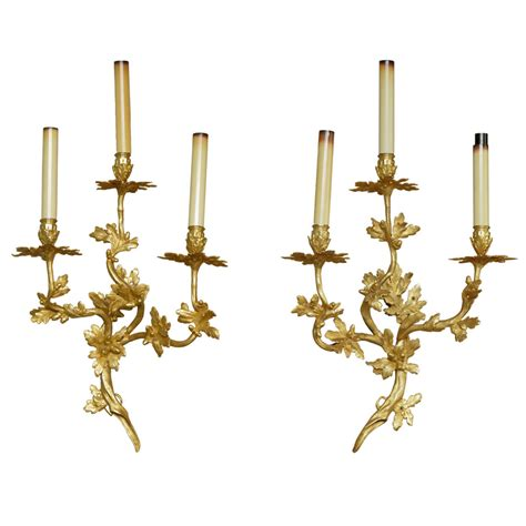french style wall lights large pair of 18th century french rococo style wall lights