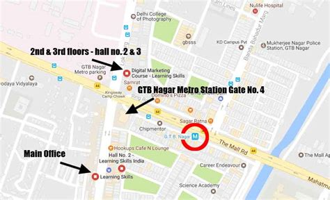 Mba Marketing In Delhi Metro by Gtb Metro Station Map Metro Map
