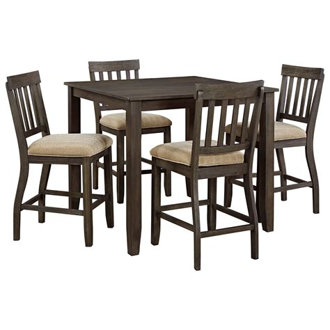 Square Dining Room Sets Signature Design By Dresbar 5 Square Dining Room Counter Table Set Wayside
