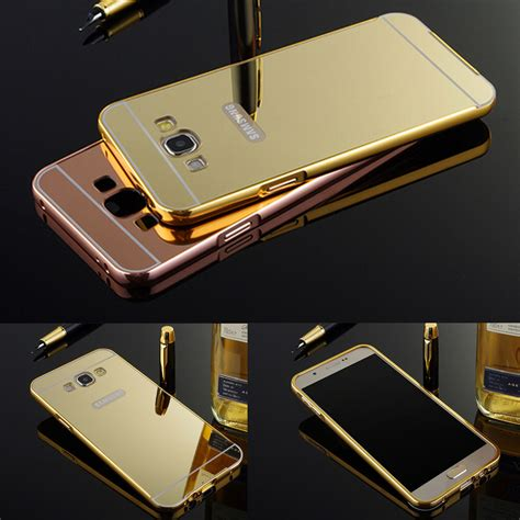 aluminum metal frame bumper mirror cover for samsung galaxy j1 j3 a3 a5 a7 ebay