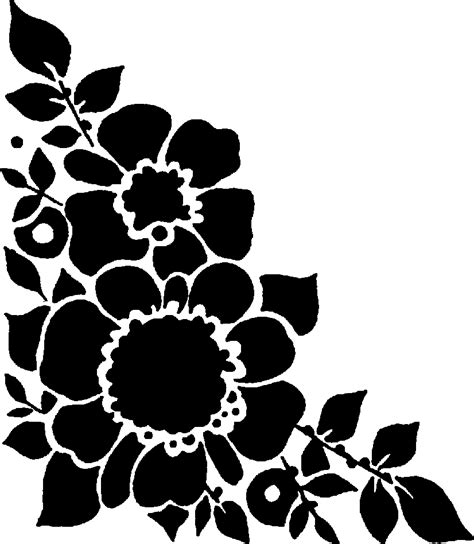 Wedding Flowers Clip Black And White by Pictures Of Flowers Black And White Cliparts Co