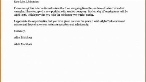 termination letter format without notice period bonjourmissmary resignation letter