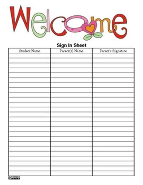 back to school sign in sheet template the s ultimate sign in sheet pdf version free