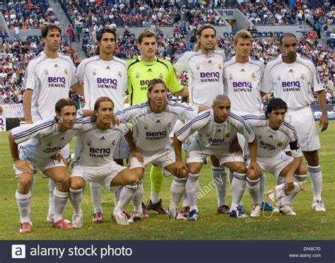 Real Madrid 09 aug 09 2006 seattle wa usa real madrid team members pose prior stock photo 64637876 alamy