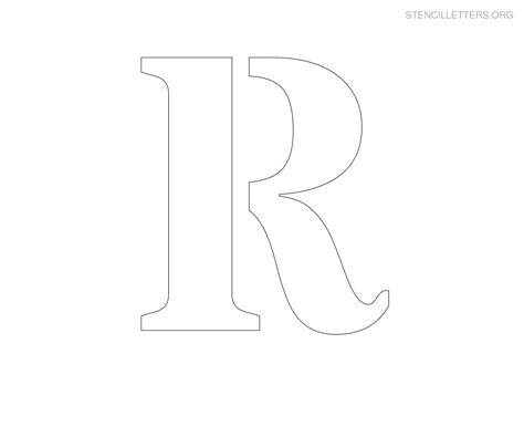 printable jumbo letter stencils 8 best images of printable large letter r letter r