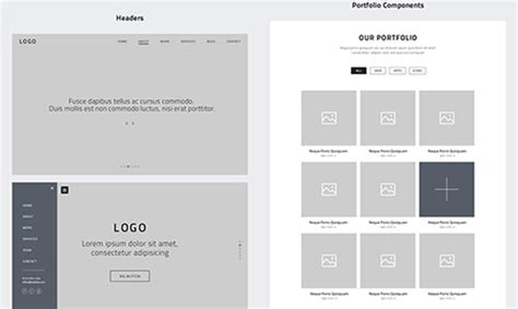 Elements Home Design Portfolio 23 beautiful wireframe sketches for web designers