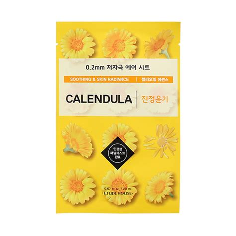 Etude House Therapy Air Mask 0 2mm etude house 0 2mm therapy air mask calendula korean