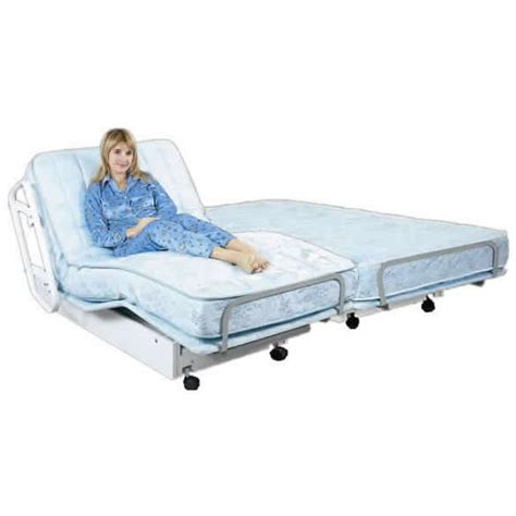 dual adjustable beds goldenrest hi low adjustable bed deluxe dual king size