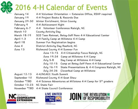 4 H Calendar Of Events Events Calender 2017 2018 Best Cars Reviews