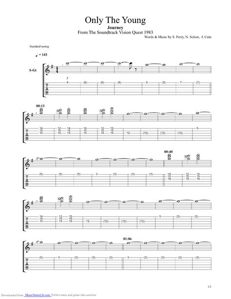 Lights Journey Chords by Only The Guitar Pro Tab By Journey Musicnoteslib