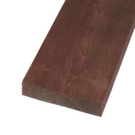 pressure treated lumber hf brown stain common