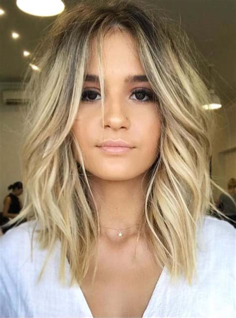 rock and roll female front woman bob haircut 36 gorgeous undone textured lob haircuts 2018 stylescue