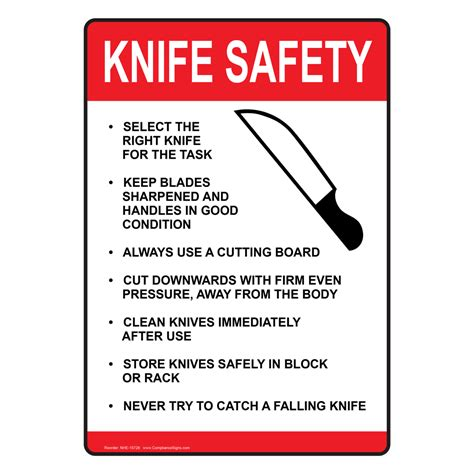 My Kitchen Rules Knives by Ada Knife Safety Sign Nhe 15728 Food Prep Kitchen Safety