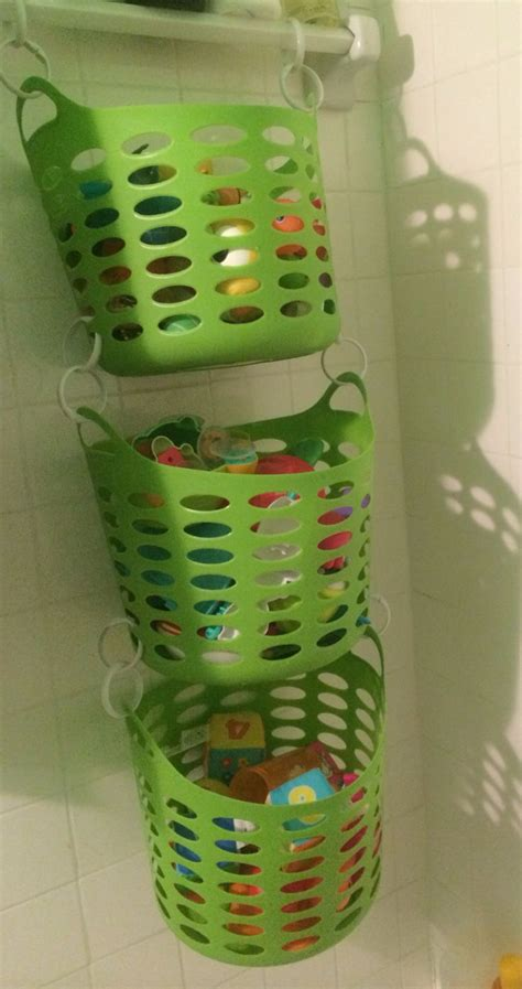 bathroom toy storage bath toy storage already have the tubs think they need drain holes drilled in the