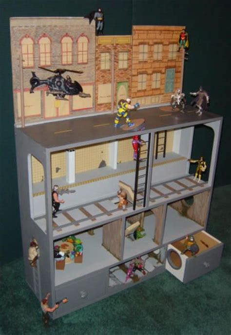 Handmade Toys For Boys - this figure city might look like a dollhouse but
