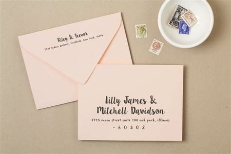 25 Exles Of Invitation Envelopes Wedding Invitation Envelope Template