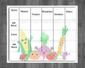 blank daycare menu template daycare menu template best template idea