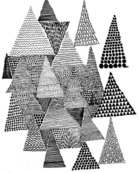 triangle christmas tree pattern drawing illustration patterns on illustration japanese patterns and avon