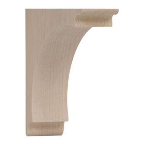 Wood Brackets Home Depot Waddell 5 In X 1 3 4 In X 5 In Small Arch Wood Corbel