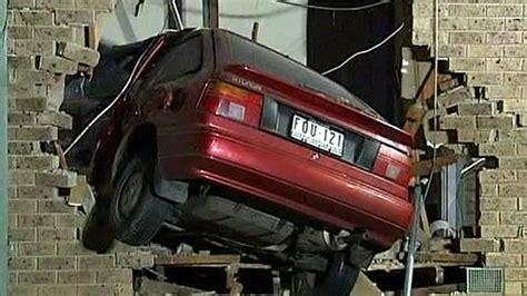car crashes into house crash pad car flies into house in australia bbc news