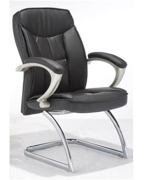 leather office chairs without wheels
