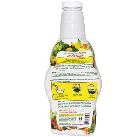 fruit and vegetable wash veggie wash fruit and vegetable wash 32 oz 946 ml