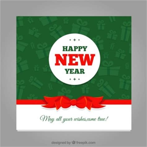 new year card size happy new year postcard vector free
