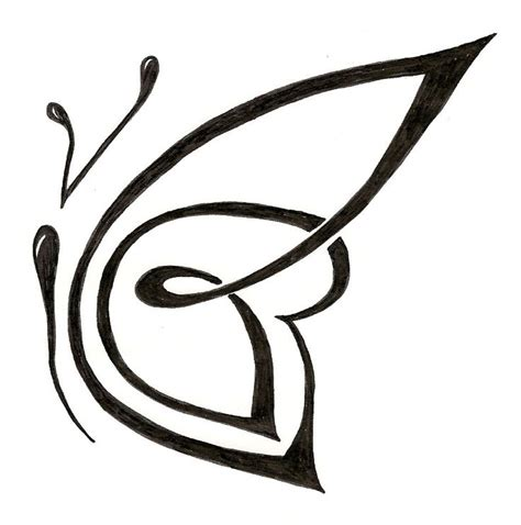 simple butterfly tattoo design tribal custom butterfly design silver wings