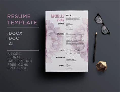 design cv background cv template 1 page resume cover letter elegant
