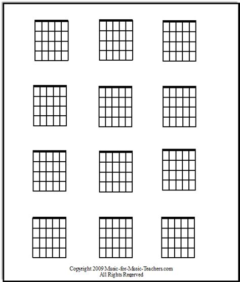 printable blank ukulele chord chart blank guitar chord chart print it out and fill it in with