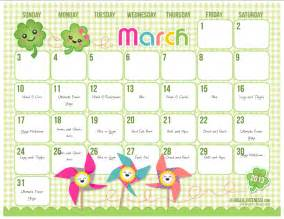 Cute march 2014 calendar printable galleryhip com the hippest