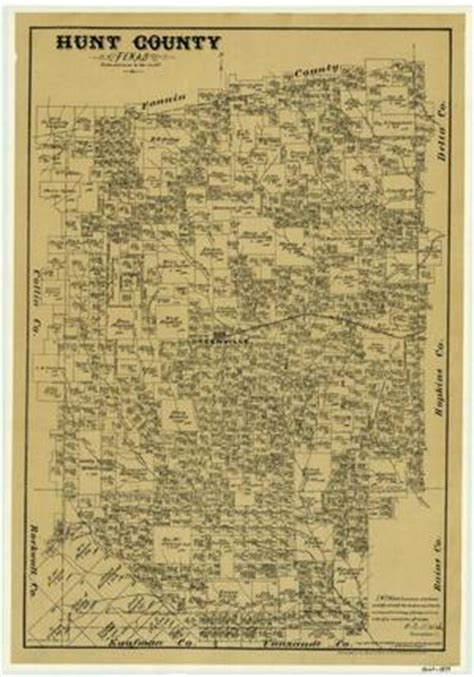 hunt county texas map hunt county the portal to texas history