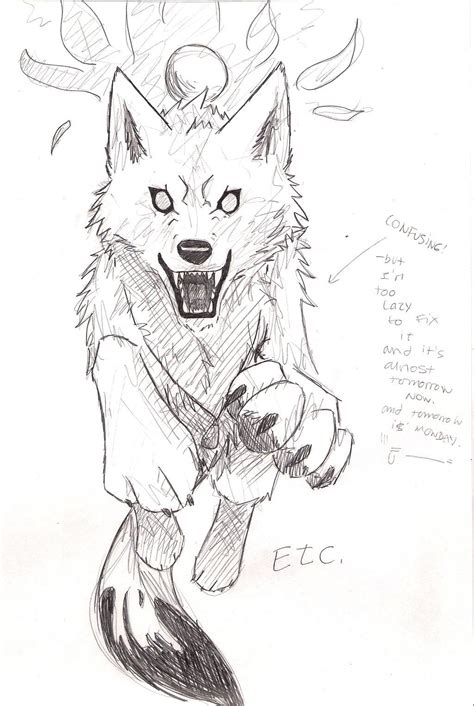 draw diagram wolf front drawing www imgkid the image kid has it