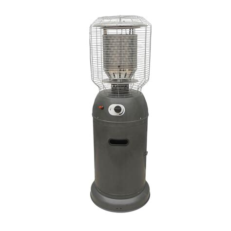 bunnings patio heaters fiammetta silver powdercoated outdoor gas heater