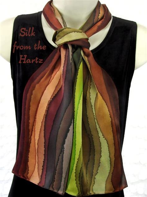Striped silk scarves   beautiful unique womens gifts