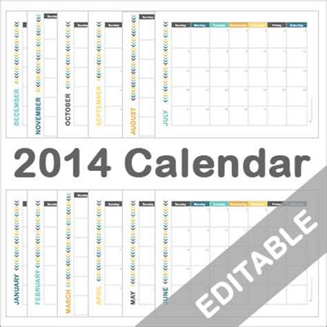 editable calendar template 2014 2014 calendar printable free