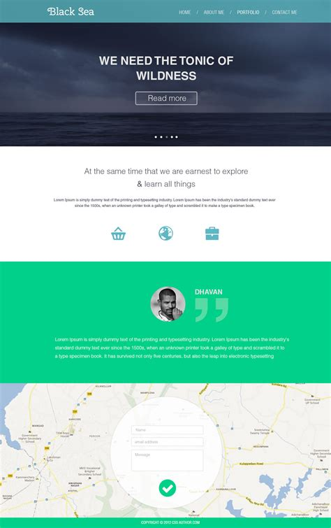 Latest Free Web Page Templates Psd 187 Css Author Web Design Template