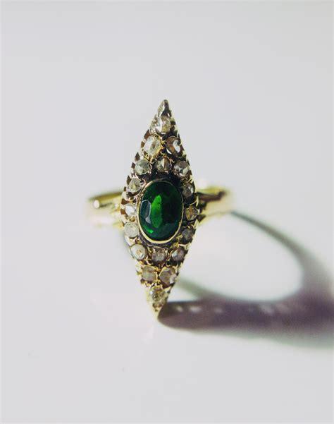 antique navette ring emerald singapore island