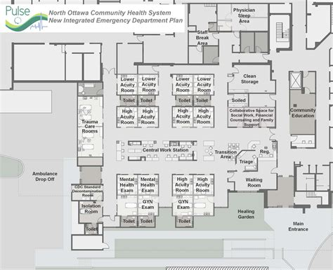 emergency department floor plan lakeshore health system unveils plans for state of the art emergency department with redesigned