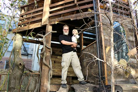 airbnb treehouse new york brownstone owner mulls renting out backyard treehouse