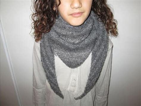Echarpe Triangle Tricot by Tuto Tricot Apprendre A Tricoter Un Cheche Trendy Ou Chale