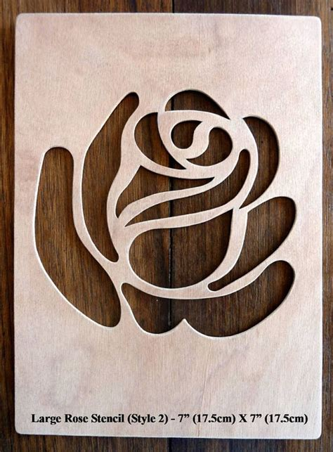 beautiful hand crafted mdf rose drawing template