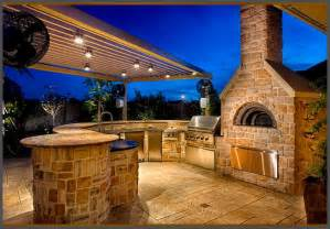Backyard Ovens Wood Fired Ovens Custom Summer Kitchen Featuring Wood Burning Pizza Oven