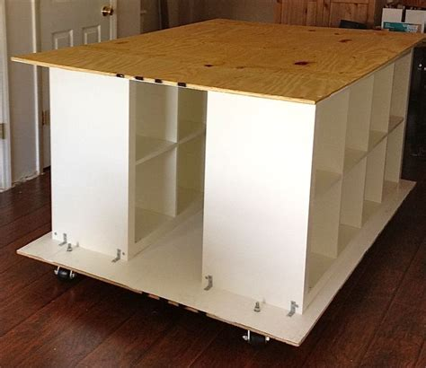 Craft Tables Ikea by Ikea Hackers Quilters Table With Storageikea Hacks Crafts Tables Sewing Room Ikea Hackers
