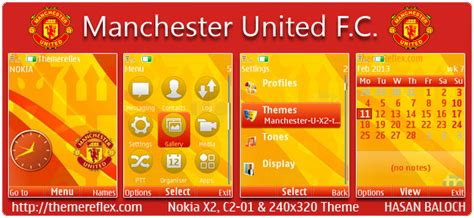 themes nokia x2 manchester united manchester united f c theme for nokia x2 00 c2 01 x2 05