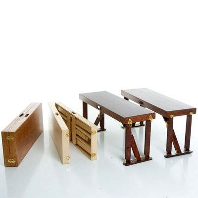 features set   portable folding benches polyester